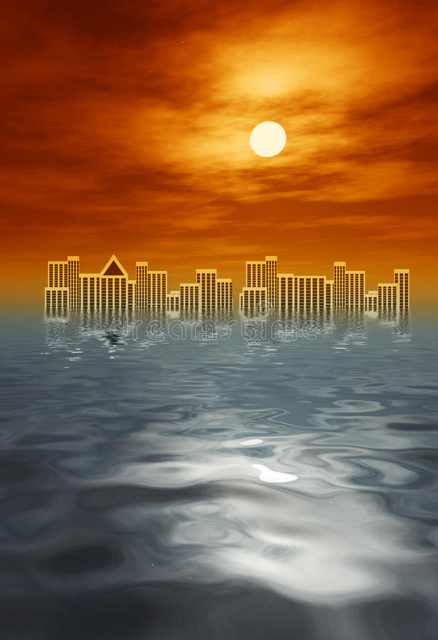 Download Tsunami stock illustration. Image of pollution, apocalypse - 18830375
