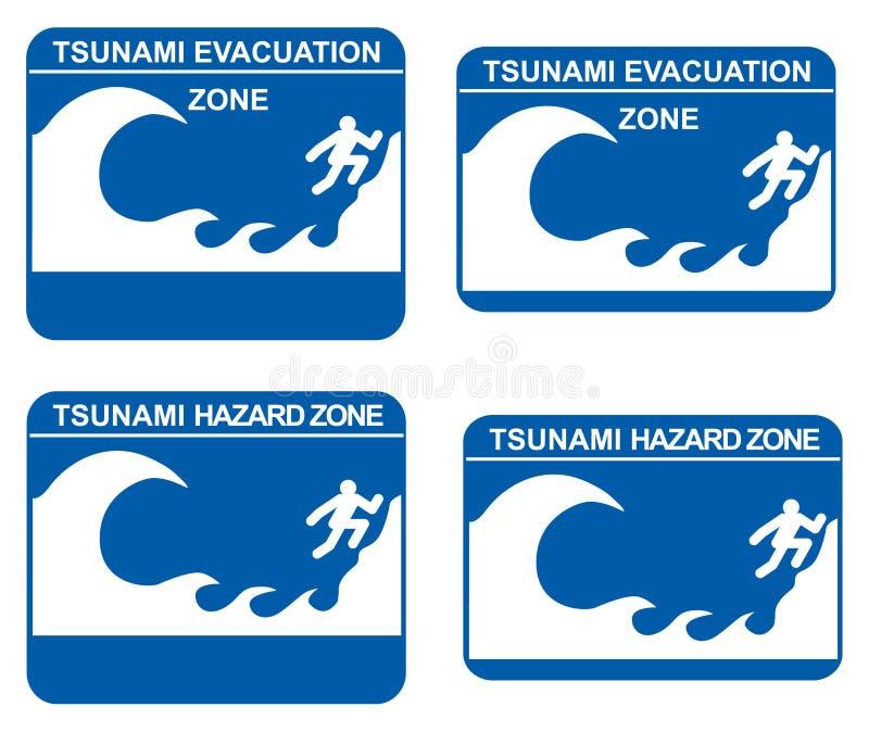 Tsunami illustration de vecteur