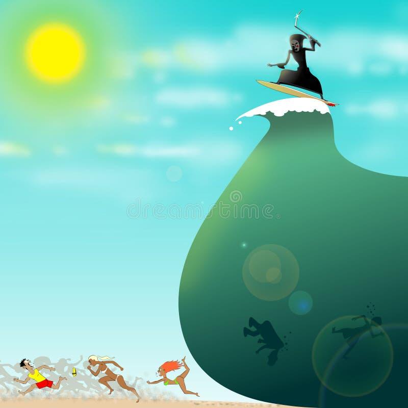 tsunami ilustracji