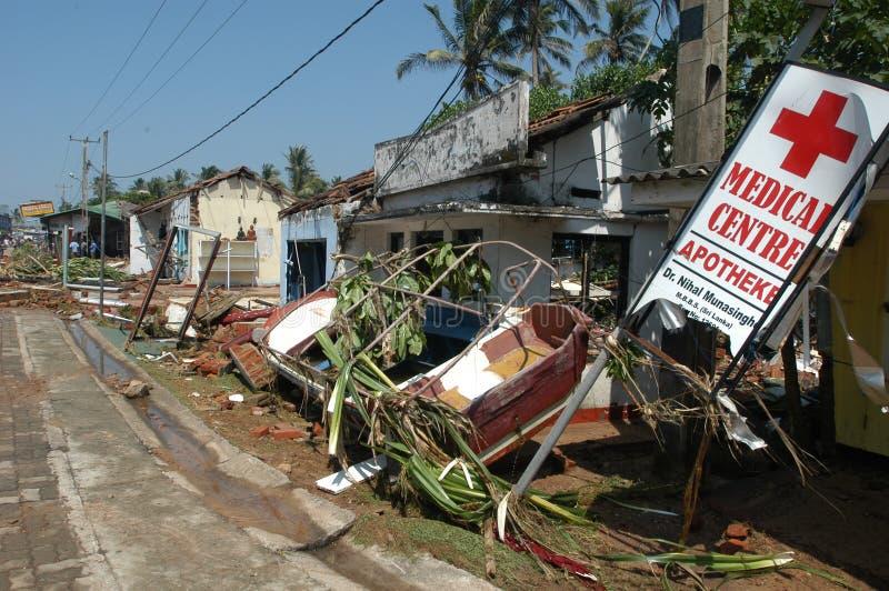 Tsunami Of 26 December 2004 At Hikkaduwa Editorial Stock Image