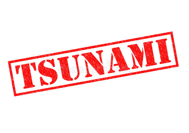 tsunami stock de ilustración