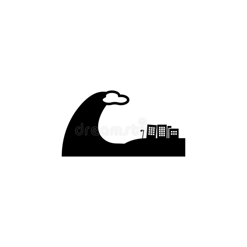 Tsunami city icon. Elements of natural disasters icon. Premium quality graphic design. Signs, outline symbols collection icon for. Websites, web design, mobile vector illustration