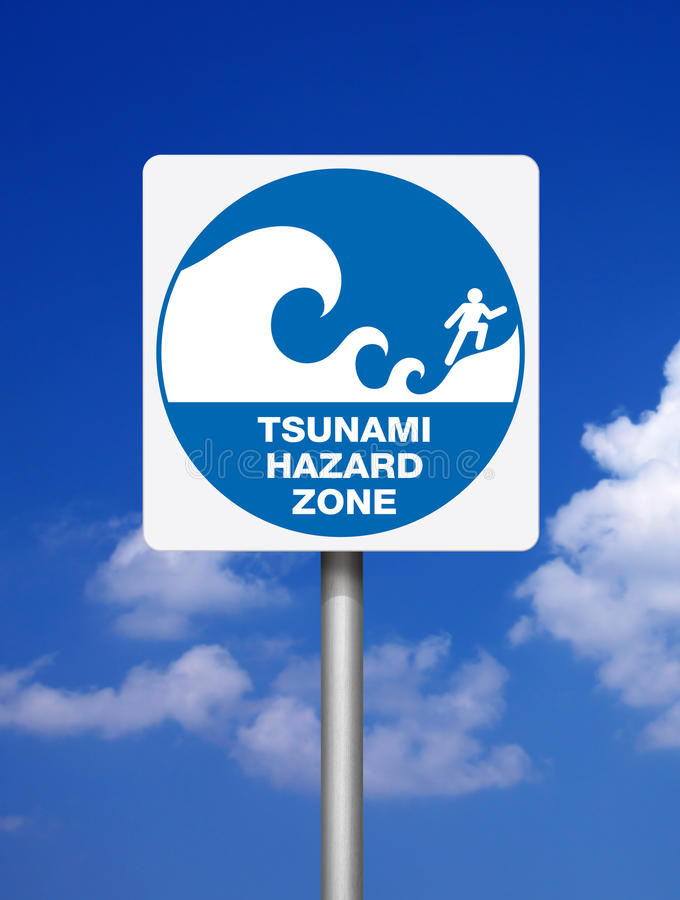 Tsunami dei segni fotografie stock libere da diritti