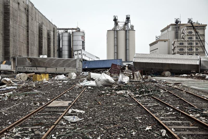 Tsunami japão fukushima 2011 imagem de stock royalty free