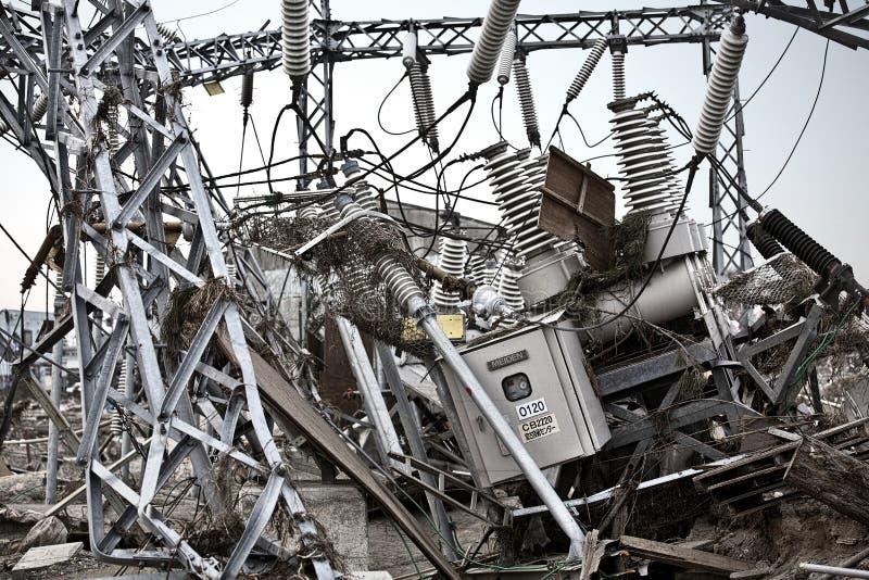 Tsunami japão fukushima 2011 imagem de stock