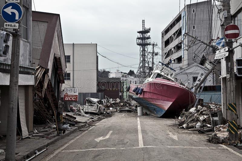 Tsunami Japan 2011 Fukushima royalty-vrije stock fotografie