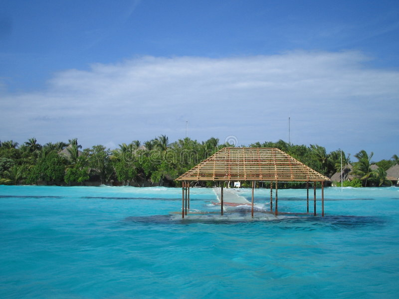 Tsunami Maldives 2 stockfotografie