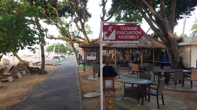 Tsunami que adverte Bali fotos de stock