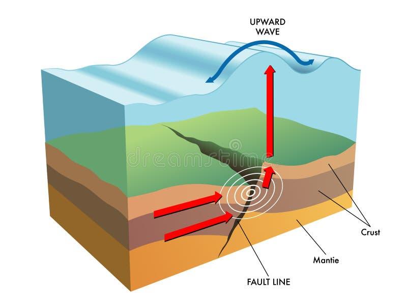 Tsunami vector illustration