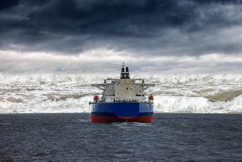 Tsunami on sea royalty free stock photos