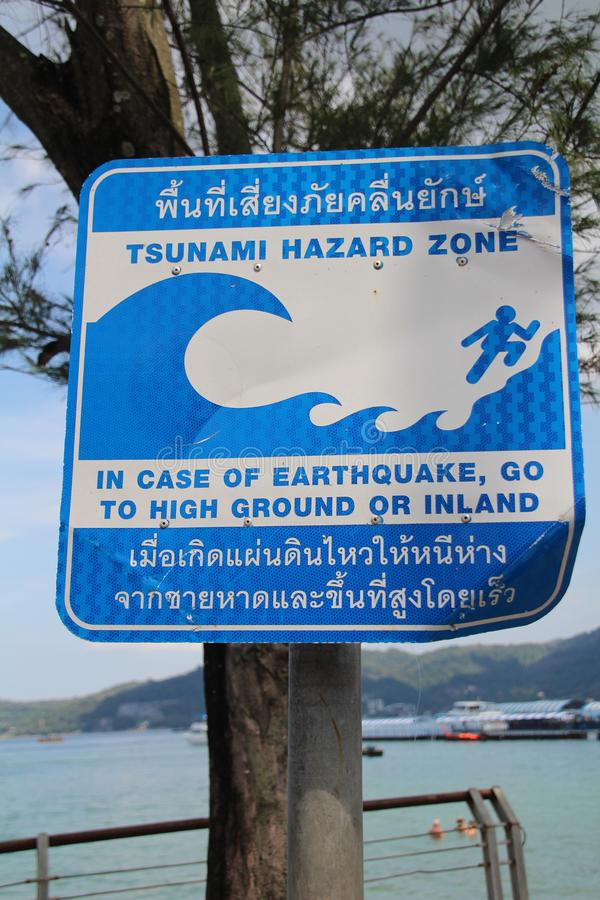 Tsunami Warning Sign Stock Images - Download 283 Royalty