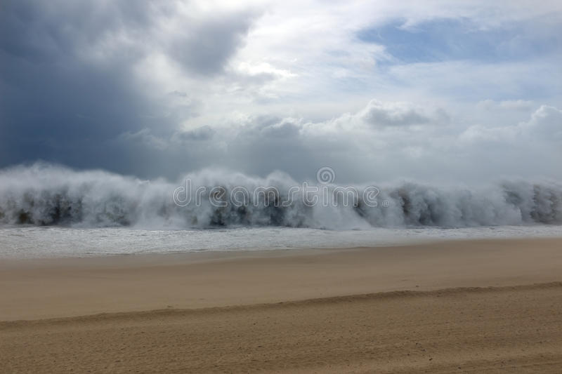 Download Tsunami Wave During A Storm Stock Image - Image: 28792739