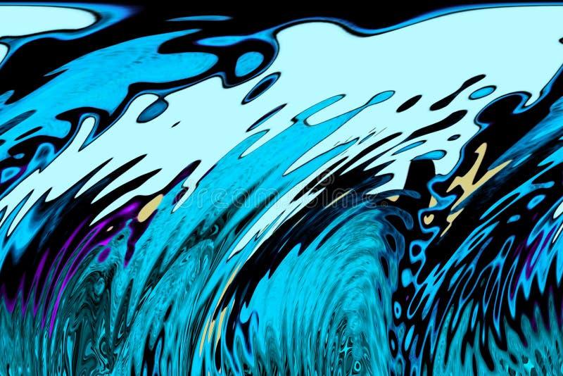 Tsunami waves. Strong ocean currents creating tsunami waves royalty free illustration