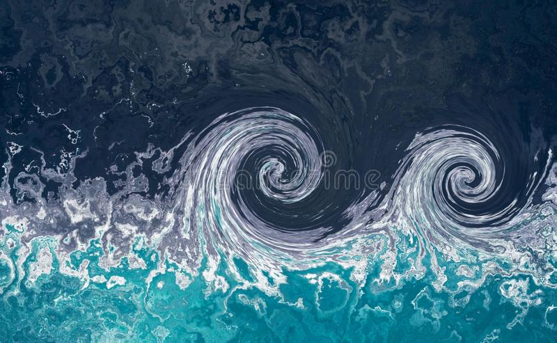 Tsunami waves. Water tide abstract background .Blue water background with splashes of waves. stock photos