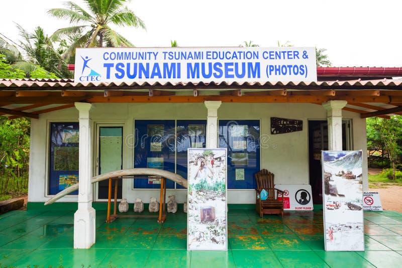 Tsunamimuseum in Hikkaduwa royalty-vrije stock foto