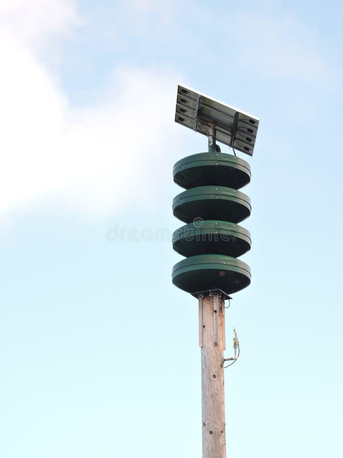 Tsunamivarningssystem royaltyfria foton