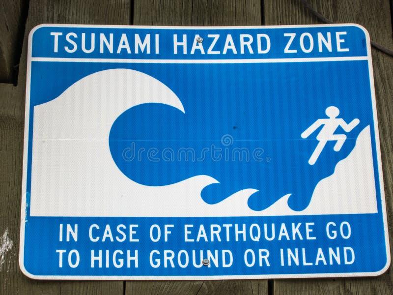 Tsunamiwaarschuwingssignaal in Californië royalty-vrije stock foto's