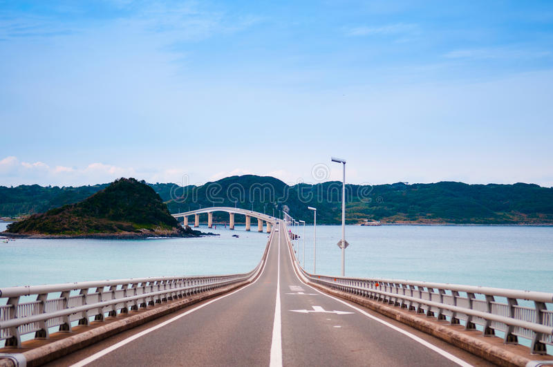 Tsunoshima Ohashi - Yamaguchi - Japón foto de archivo libre de regalías
