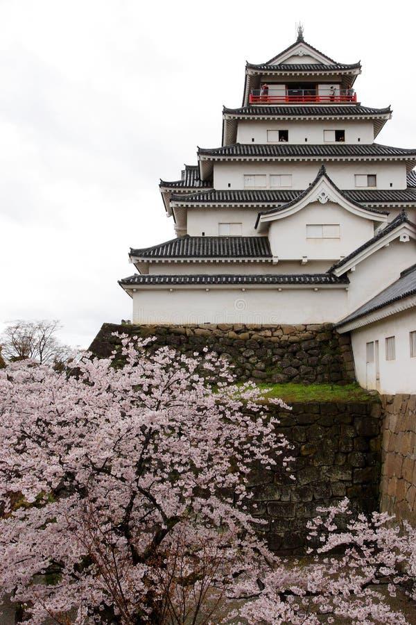 Tsuruga-jo Schloss lizenzfreies stockbild