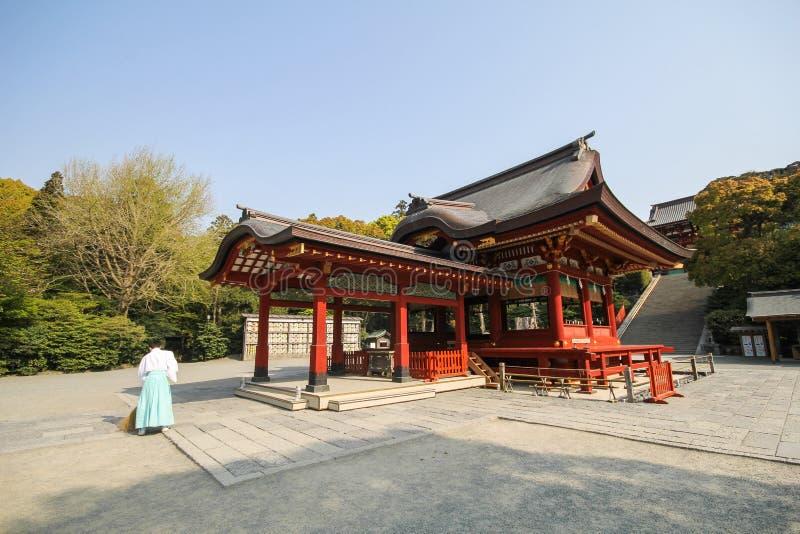 Tsurugaoka Hachimangu świątynia Kamakura, Japonia obraz stock