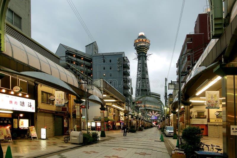 Tsutenkaku Osaka Tower, distrito de Shinsekai, ku de Naniwa, Osaka, Japón imagen de archivo