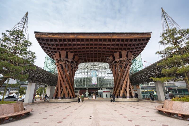 Tsuzumimon今池门地标在今池驻地前面东部出口位于  免版税库存图片