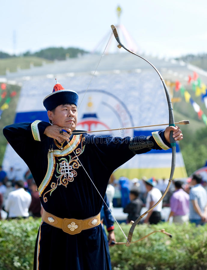 Tsyrempilov at World Mongolians Convention stock photos