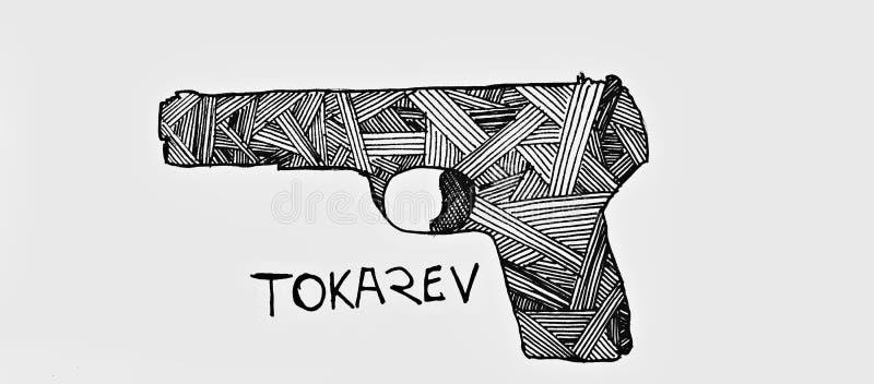 TT-30 pistoletu model ilustracja wektor