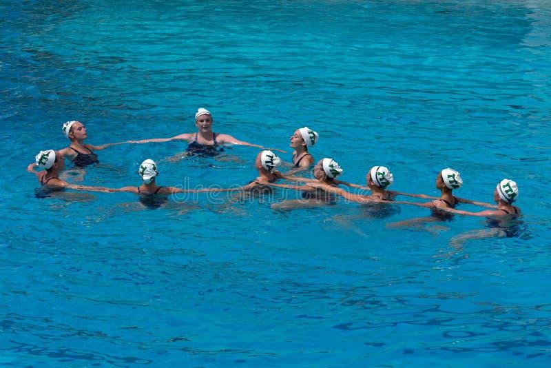 TTA Synchronized Swimming royalty free stock photo