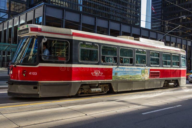 TTC-spårvagn Toronto royaltyfri foto