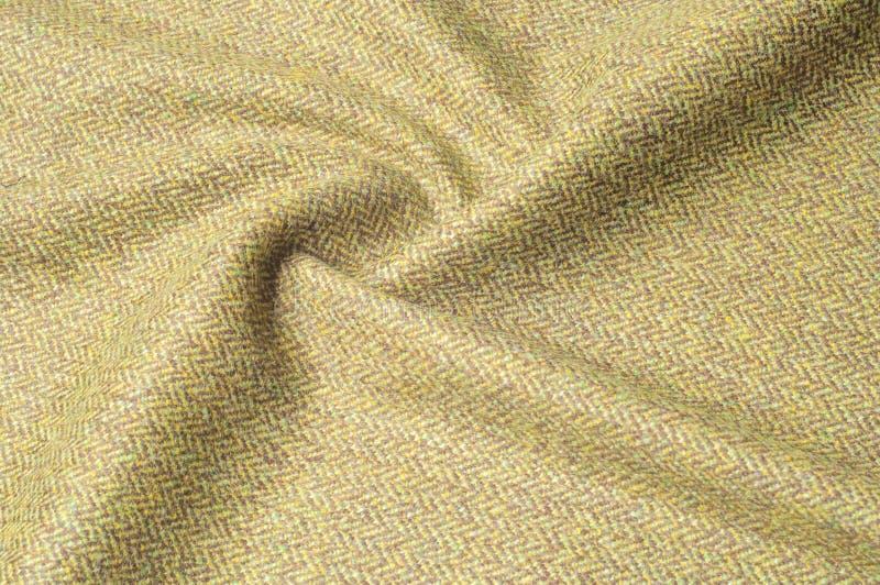 TTexture bakgrundsmodell Siden- kakier för tyg, gräsplan, fältgra royaltyfria foton