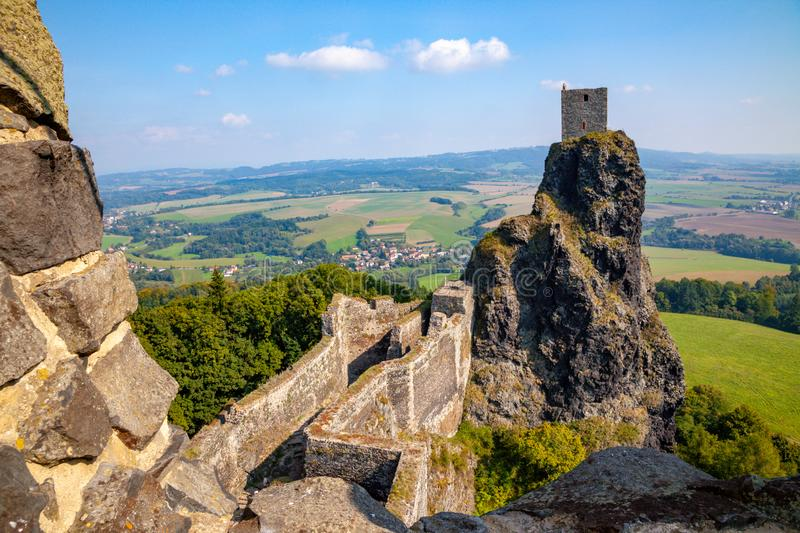 TThe ruins of Trosky in the Czech Republic royalty free stock images