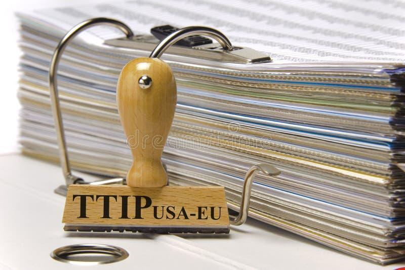 TTIP自由贸易协议 库存照片