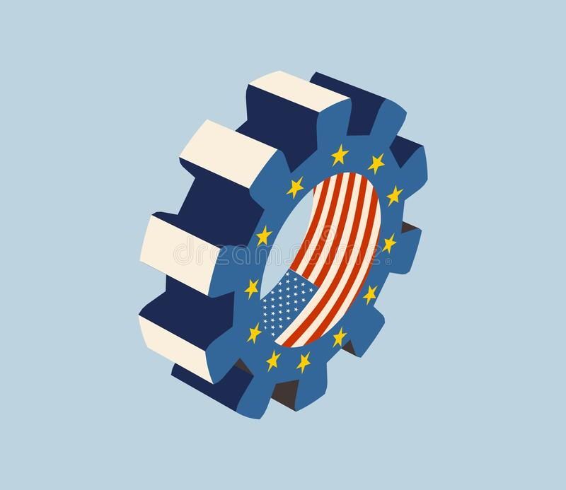 TTIP - Transatlantic Trade and Investment Partnership stock illustration