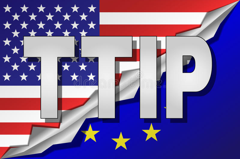 TTIP - Transatlantic Trade and Investment Partnership. royalty free illustration