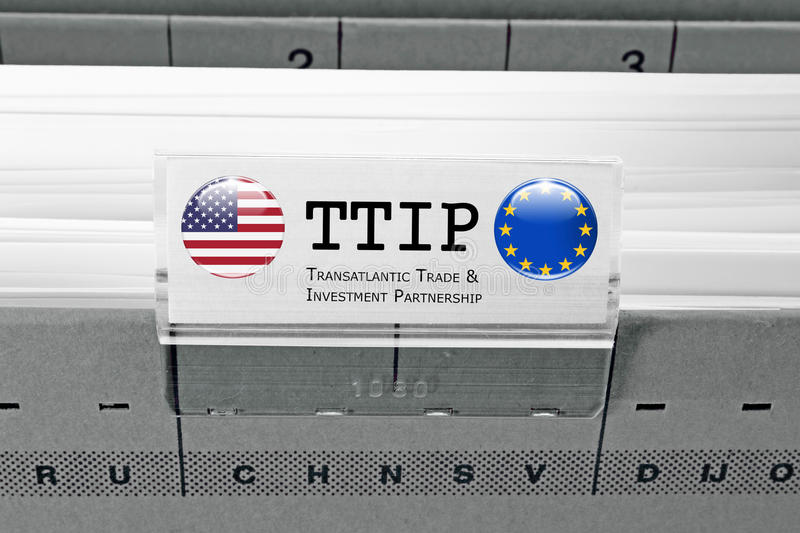 TTIP - Transatlantic Trade and Investment Partnership royalty free illustration