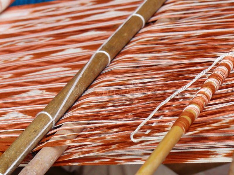Ttraditional tkactwa technika IKAT, Ekwador fotografia stock