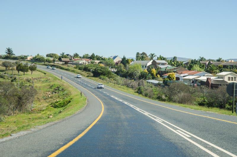 Ttreet vicino a Knysna, itinerario del giardino, Sudafrica fotografia stock