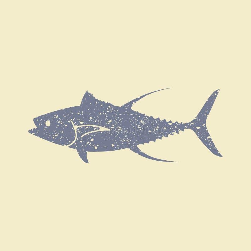 Tuńczyk ryba mieszkania ikona royalty ilustracja