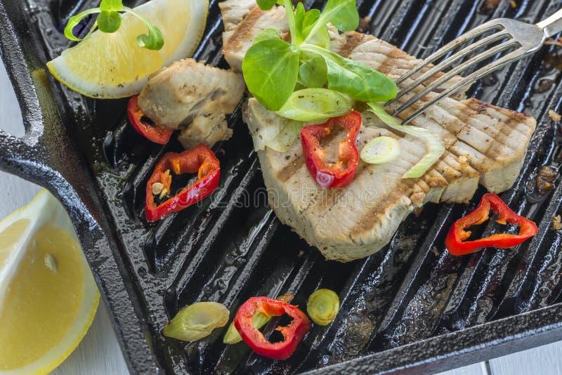 Tuńczyka smażący stek zdjęcie stock