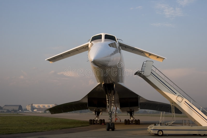 Tu-144 supersonic jet aircraft royalty free stock images