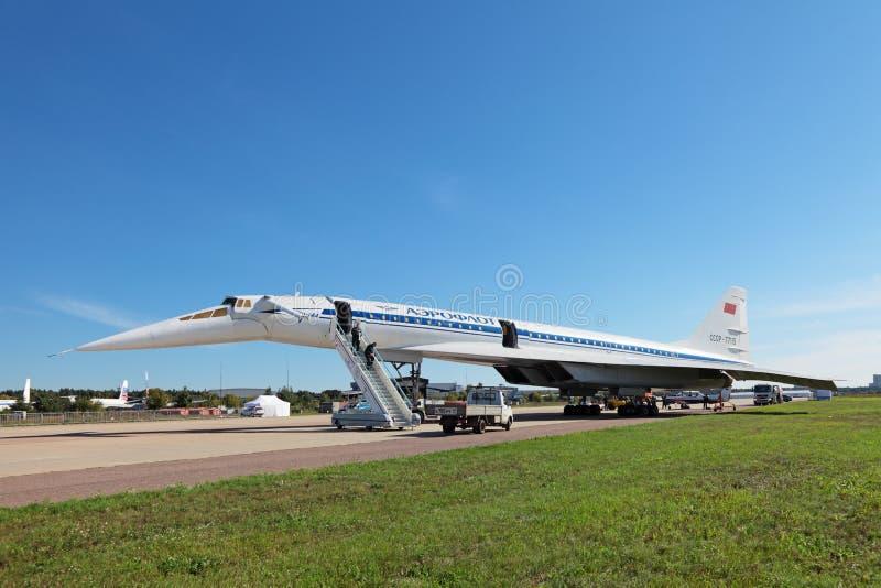 Tu-144 стоковая фотография