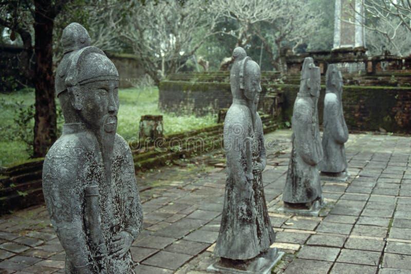 Tu Duc Statues - Hue, Vietnam royalty free stock photos