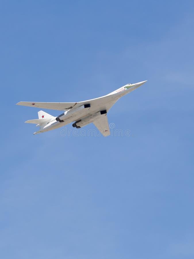 Tu-160 samolotu wojskowego biel obrazy stock