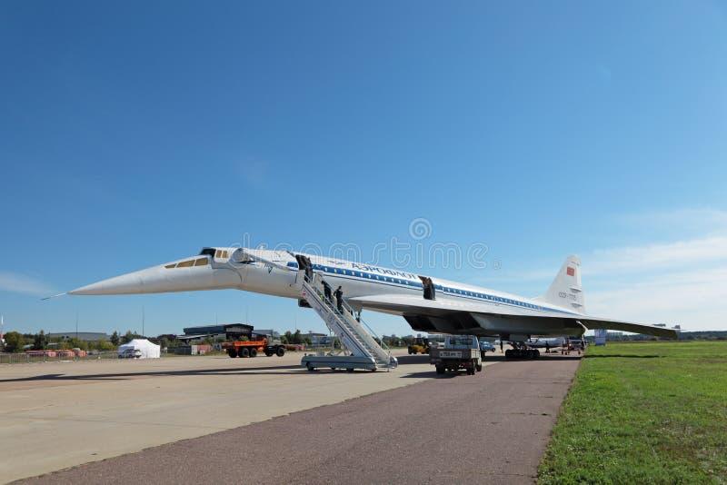 Tu-144 stock photo