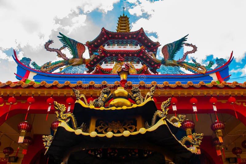 Tua Pek Kong świątynia Piękna Chińska świątynia Sibu miasto, Sarawak, Malezja, Borneo zdjęcie stock