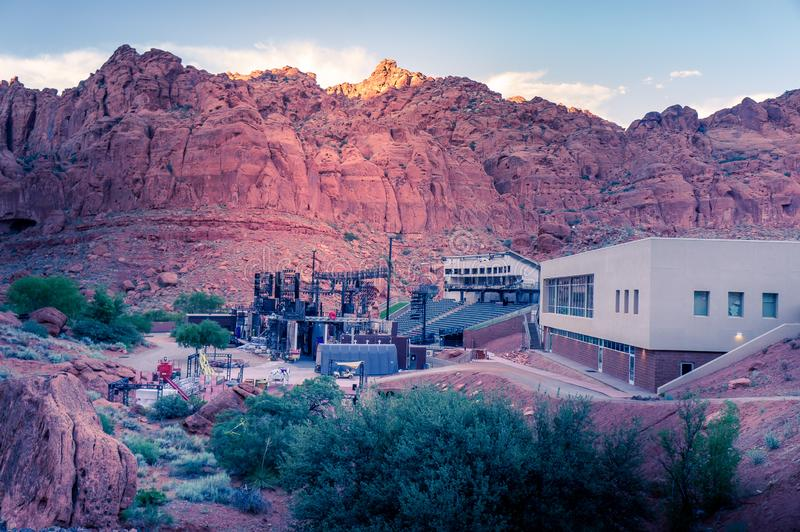 Tuacahn Center for the Arts, Ivins, Utah, Outside of St. George stock image