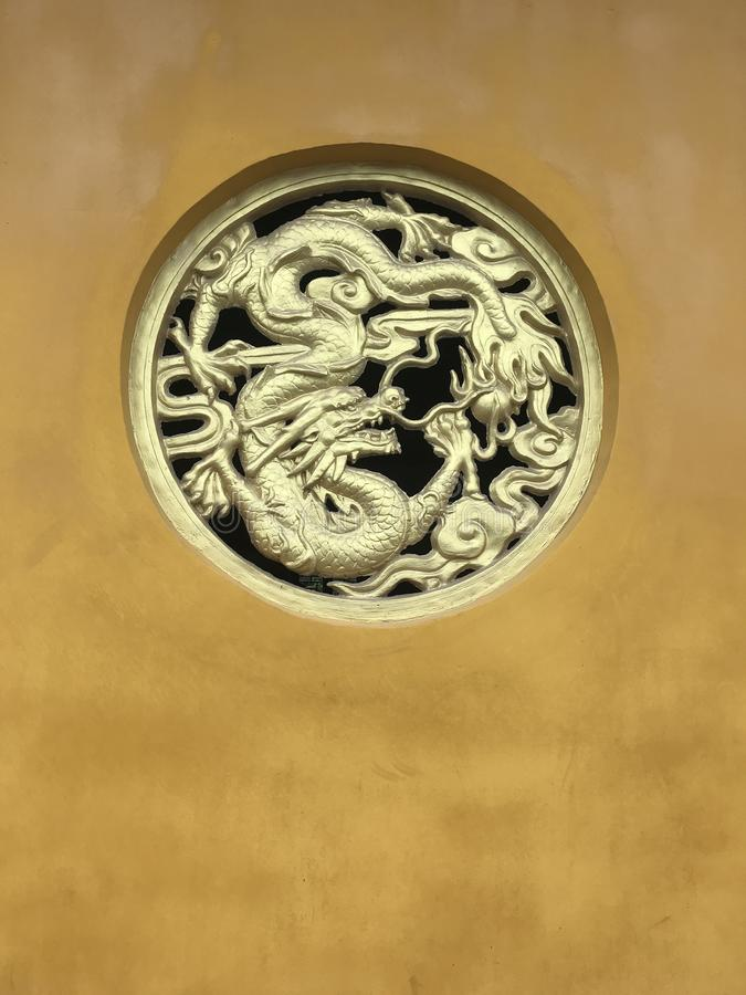 Dragon relief-Lianchi Temple, Nanchang. Tuanlong pattern is the highest grade decorative pattern in Ming and Qing dynasties, and can only be used for the royalty free stock photography