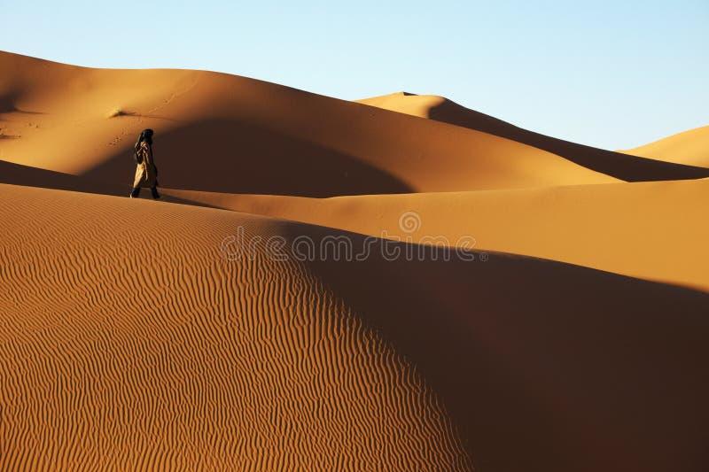 Tuareg na pustyni zdjęcia stock