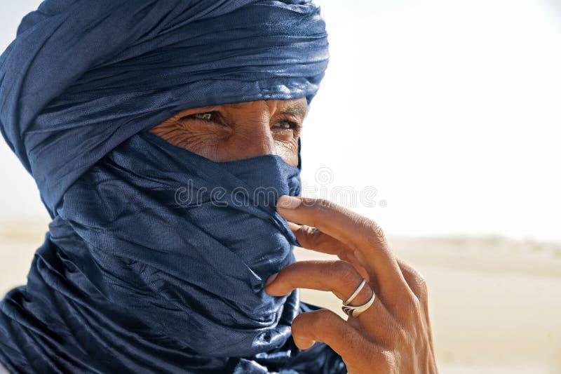 Tuareg posing for a portrait. TIMBUKTU, MALI. Tuareg posing for a portrait in camp near Timbuktu stock photography